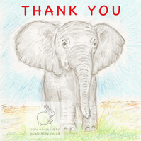 Benny the Baby Elephant - Thank You Card