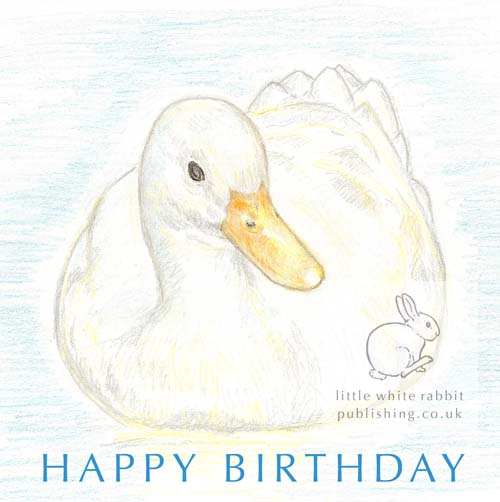 White Duck - Birthday Card