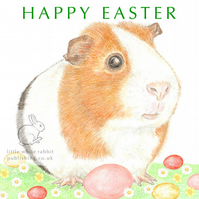 Gilbert the Guinea Pig - Easter Card