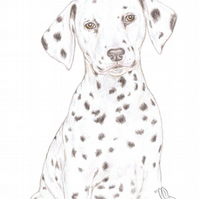 Dot the Dalmatian - Thank You Card