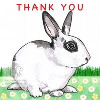 Patch the Rabbit - Thank you Card