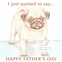 Titus the Pug - Father's Day Card