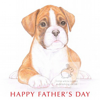 Jake the Boxer - Father's Day Card