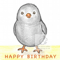 Cloudy the Chick - Birthday Card