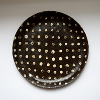 Black Spotty Plate, large