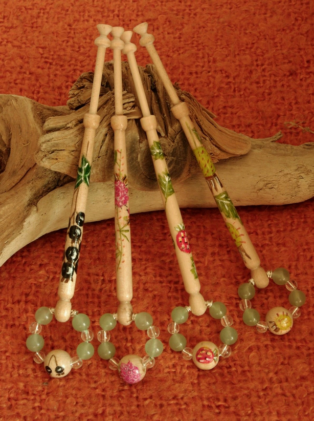 Lace Bobbins with a Soft fruit Theme