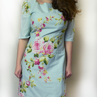 Size 14 floral retro style dress