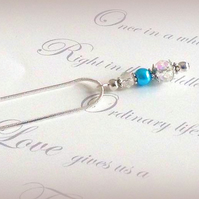Lily Silver Plated Glass Bead and Pearl Necklace Pendant - Various Colours
