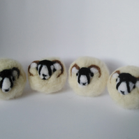 Needle Felt, Eco friendly, 100% pure sheep wool, tumble dryer laundry balls.