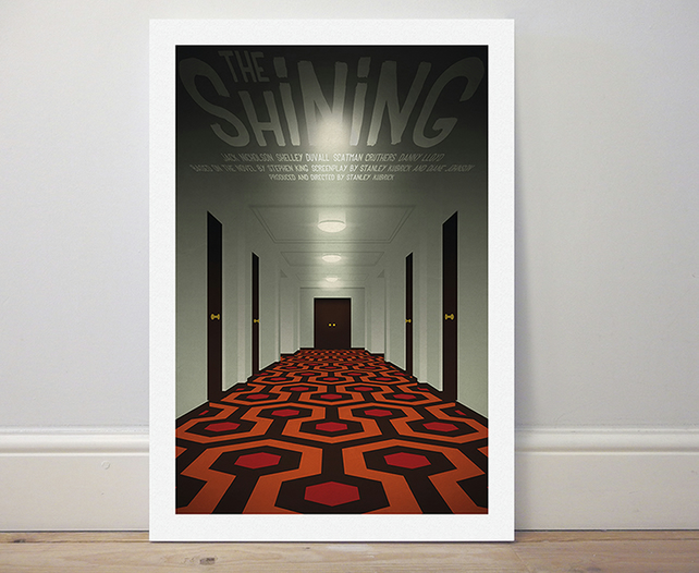 A4 film poster colour print 'The Shining'