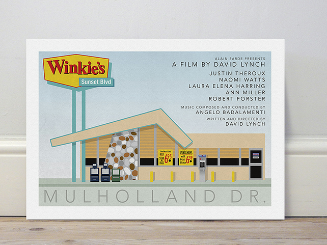 A4 film poster colour print 'Mulholland Drive'