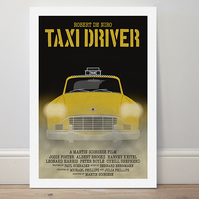 A4 film poster colour print 'Taxi Driver'