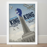 A4 film poster colour print 'King Kong'