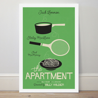 A4 film poster colour print 'The Apartment'