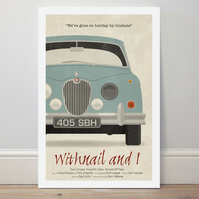 A4 film poster colour print 'Withnail and I'