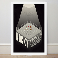 A4 film poster colour print 'Rocky'