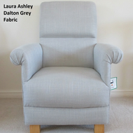 Laura Ashley Dalton Grey Upholstery Fabric Adult Chair Nursery Bespoke Lounge