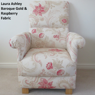 Laura Ashley Baroque Fabric Adult Chair Raspberry Gold Nursery Bespoke New