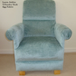 Laura Ashley Villandry Velvet Fabric Adult Chair Duck Egg Green Occasional New