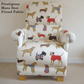 Prestigious Mans Best Friend Cream Fabric Adult Chair Dogs Puppies Poodles New