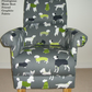 Prestigious Mans Best Friend Grey Fabric Adult Chair Dogs Puppies Scotties New