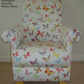 Prestigious Butterflies Chintz Fabric Adult Chair Nursery Accent Bedroom Girls