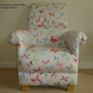 Prestigious Vintage Butterflies Fabric Adult Chair Accent Bedroom Girls Bespoke
