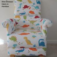 Prestigious Dino Fabric Adult Chair Dinosaurs Nursery T-Rex Colourful Armchair