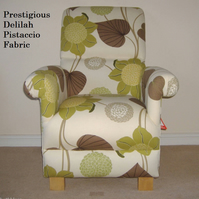 Prestigious Delilah Pistachio Fabric Adult Chair Floral Flowers Accent Green New