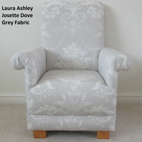 Laura Ashley Josette Grey Fabric Child's Chair Armchair Bedroom Kitchen Bespoke