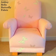 Laura Ashley Bella Butterfly Child's Chair Kid's Pink Armchair Girls Lilac New