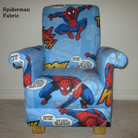Marvel Spiderman Fabric Child's Chair Boys Armchair Children's Kitchen Lounge