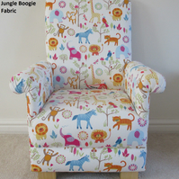 Prestigious Jungle Boogie Fabric Child's Chair Kids Armchair Animals Lions Tiger