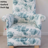 Laura Ashley Gosford Duck Egg Fabric Adult Chair Floral Shabby Chic Armchair New
