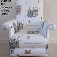 Ashley Wilde Charlie & The Chocolate Factory Fabric Kid's Chair Child's Armchair