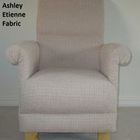 Laura Ashley Etienne Rose Adult Chair Armchair Natural Bedroom Kitchen Nursery