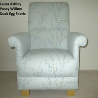 Laura Ashley Pussy Willow Duck Egg Fabric Adult Chair Armchair Nursery Bedroom