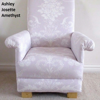 Laura Ashley Josette Amethyst Fabric Child's Chair Kid's Armchair Lilac Bedroom