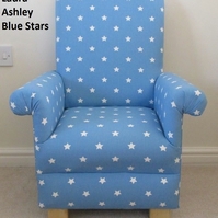 Laura Ashley Blue Stars Fabric Kid's Chair Child's Armchair Children Babies