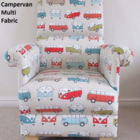 Fryetts VW Campervan Fabric Adult Chair Armchair Nursery Vans Volkswagen