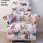 Prestigious Alphabet Animals Fabric Adult Chair Nursery Nursing Armchair Beige