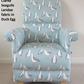 Clarke Seagulls Fabric Adult Chair Gulls Armchair Duck Egg Birds Nursery Accent