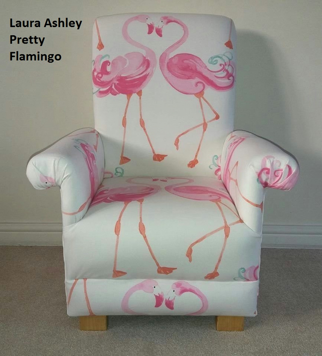 Prime Laura Ashley Pretty Flamingo Fabric Childs Chair Kids Armchair Girls Pink Andrewgaddart Wooden Chair Designs For Living Room Andrewgaddartcom