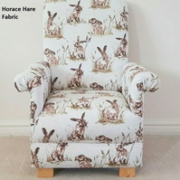 Horace Hare Fabric Children's Chair Kids Armchair Animals Rabbits Beige Nursery