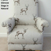 Fryetts Glencoe Stags Fabric Children's Chair Kids Armchair Child's Nursery