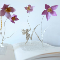 "Book Art Sculpture ""Childhood Memories"""