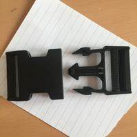 Black Plastic Military Style Clip Buckle 4.5x7.5cm