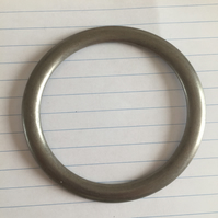 Large Vintage Toned Silver O Ring 6.5cm Diameter