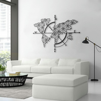 Map of Life - Metal Wallart
