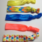 The Neon geometric pretty darling pack elasticated no crease hair ties,bobbles